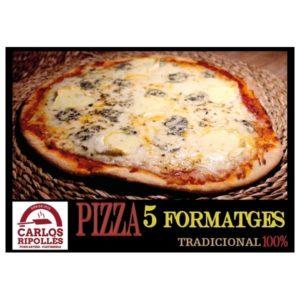 pizza artesanal 5 formatges - mercat finca mas roig